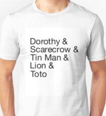Wizard of Oz Name List T-Shirt T-Shirt