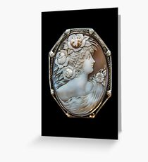 1880 Antique Shell Cameo Greeting Card
