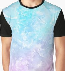 Pastel Scaly Marble Texture Graphic T-Shirt