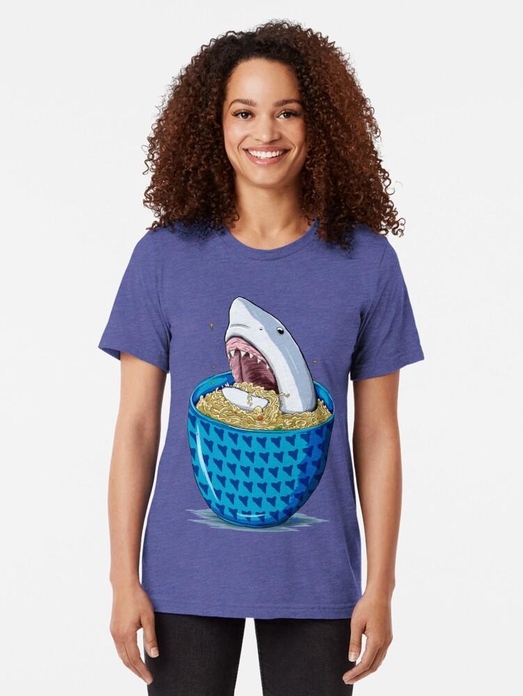Vista alternativa de Camiseta de tejido mixto Tiburón Ramen