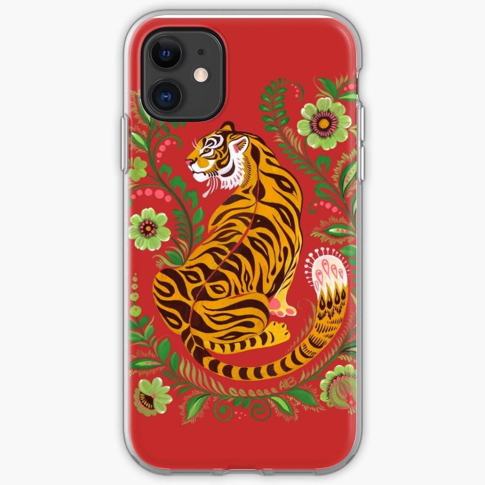 Tiger Folk Art iPhone Case & Cover