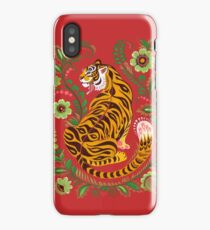 Tiger Folk Art iPhone Case
