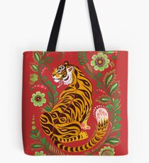 Tiger Folk Art Tote Bag