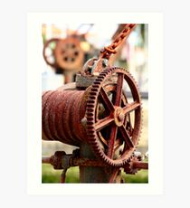 Old Winches Art Print