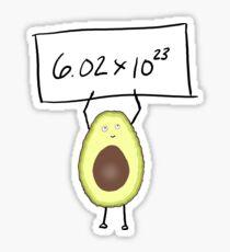 Avocados unterzeichnen Sticker