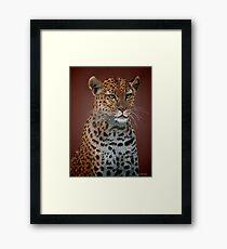 Leopard Elegance Framed Print
