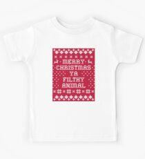 Frohe Weihnachten Ya Filthy Animal Kinder T-Shirt