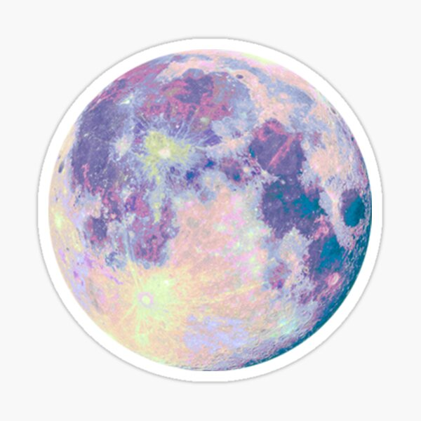 Purple Moon Sticker