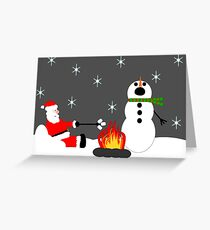 Funny Campfire Greeting Card