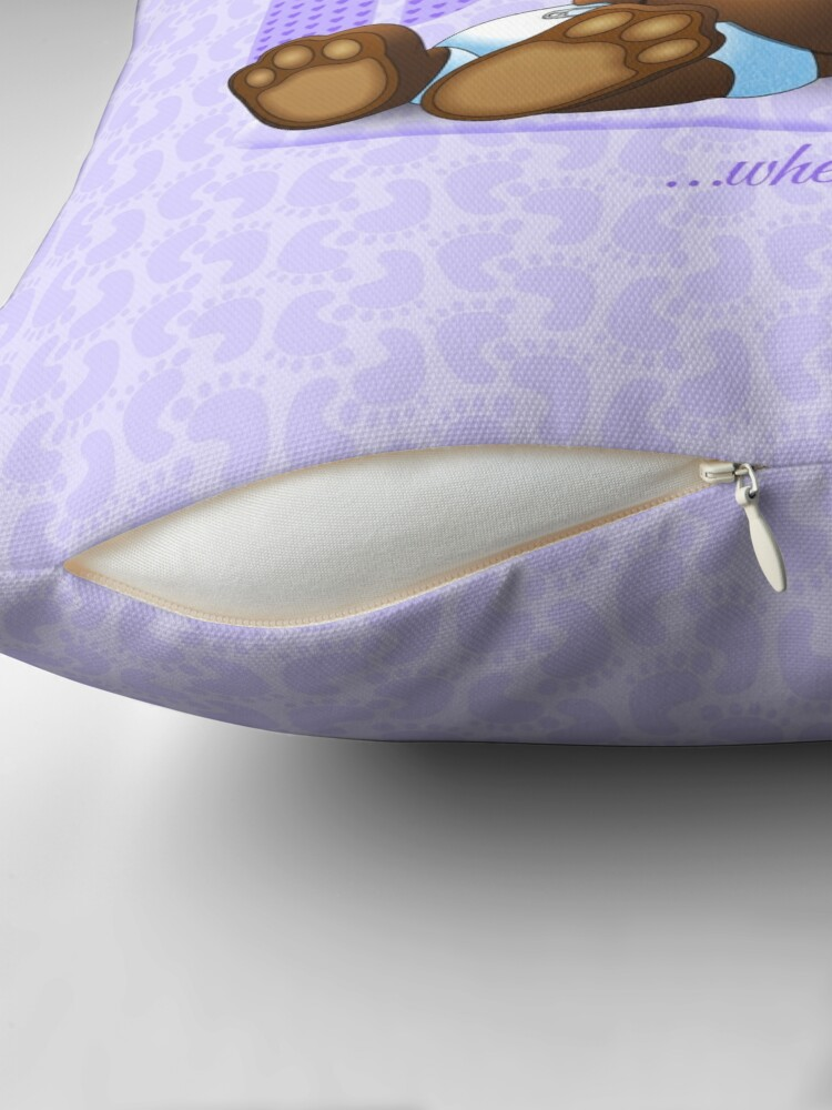 Alternate view of I Love My Baby - Lilac Throw Pillow