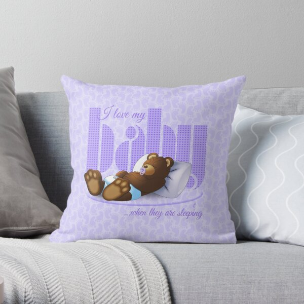 I Love My Baby - Lilac Throw Pillow