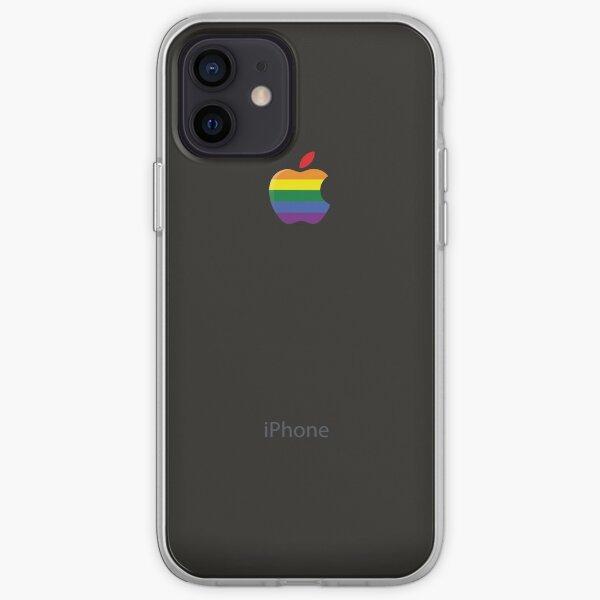 iPhone espace gris noir lesbienne gay lgbt arc-en-drapeau Coque souple iPhone