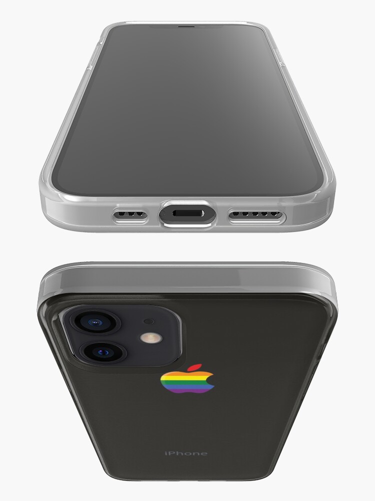 Alternate view of iPhone space gray black lesbian gay lgbt rainbow flag iPhone Case & Cover