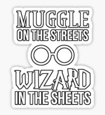 Wizard in the sheets Sticker