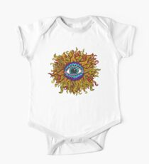 Psychedelic Sunflower - Just the flower One Piece - Short Sleeve