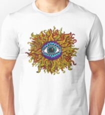 Psychedelic Sunflower - Just the flower Unisex T-Shirt