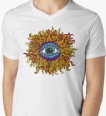 Psychedelic Sunflower - Just the flower Men's V-Neck T-Shirt