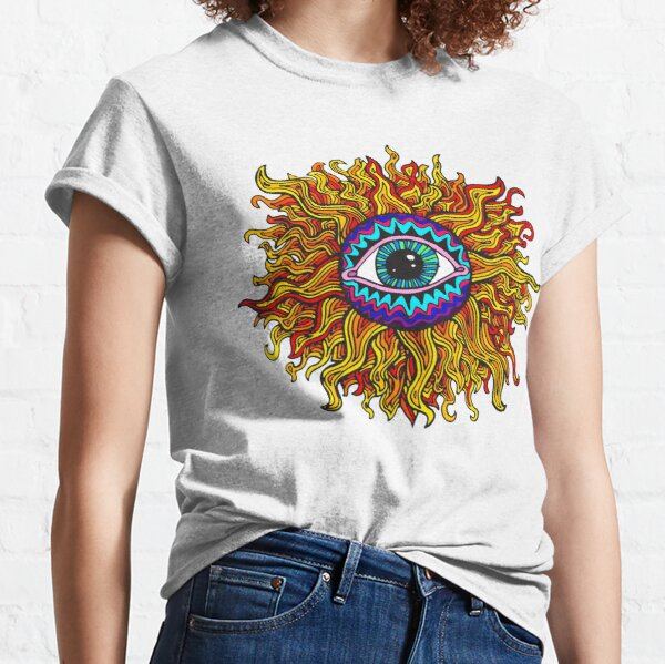Psychedelic Sunflower - Just the flower Classic T-Shirt