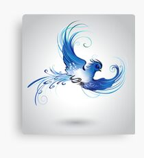 Blue Bird ( The Bird of Happiness ) Canvas Print