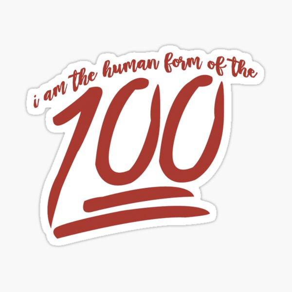 Human form of the 100 emoji Sticker
