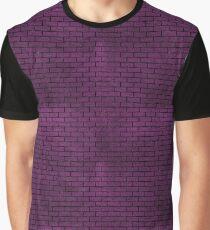BRICK1 BLACK MARBLE & PURPLE LEATHER Graphic T-Shirt