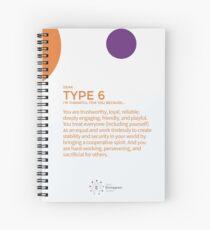 Cuaderno de espiral Eneagrama tipo 6 - Agradecido por ti