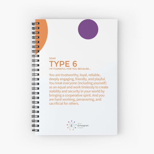 Enneagram Type 6 - Thankful for You Spiral Notebook