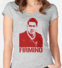 Roberto Firmino Liverpool Women's Fitted Scoop T-Shirt