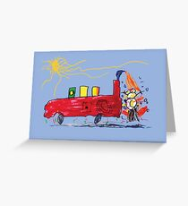 Oh No! Mr. Snowman by Oliver Greeting Card