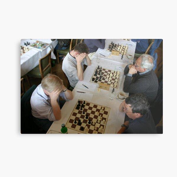 The Chess Tournament, Grange-over-Sands Metal Print