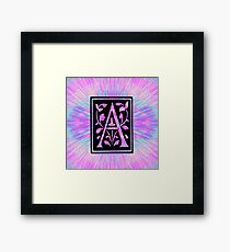 pink letter a initial  Framed Print