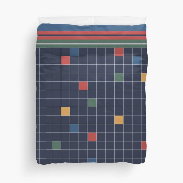 Classic 80s-Style Bedding Duvet Cover