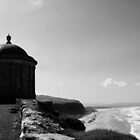 Mussenden Temple, Black and White by Sarah Cowan