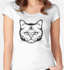 Icono Cat Women's Fitted Scoop T-Shirt