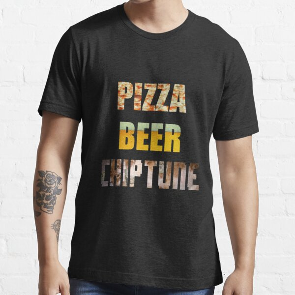 Pizza Beer Chiptune Essential T-Shirt
