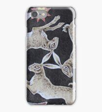 Three Brown Hares Design iPhone Case/Skin