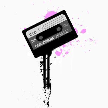 Cassette Radio Tee by electrodystopia