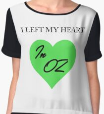 Left My Heart In Oz Women's Chiffon Top