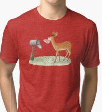 Fawn with letter Tri-blend T-Shirt