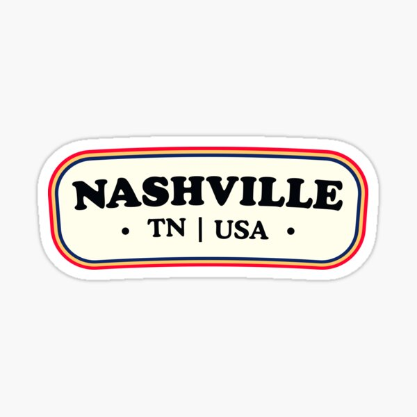 Nashville | Retro Badge Sticker