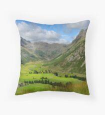 Upper Langdale - Cumbria Throw Pillow