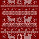 Ugly Christmas sweater dog edition - Chihuahua red by Camilla Mikaela Häggblom