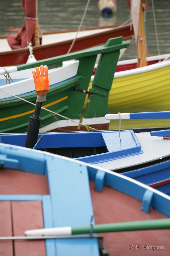 At Portsoy Scottish Traditional Boat Festival by R. F.  Simpson