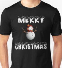 Chrismas Cool Present Merry Christmas Snowman Funny Gift T-Shirt