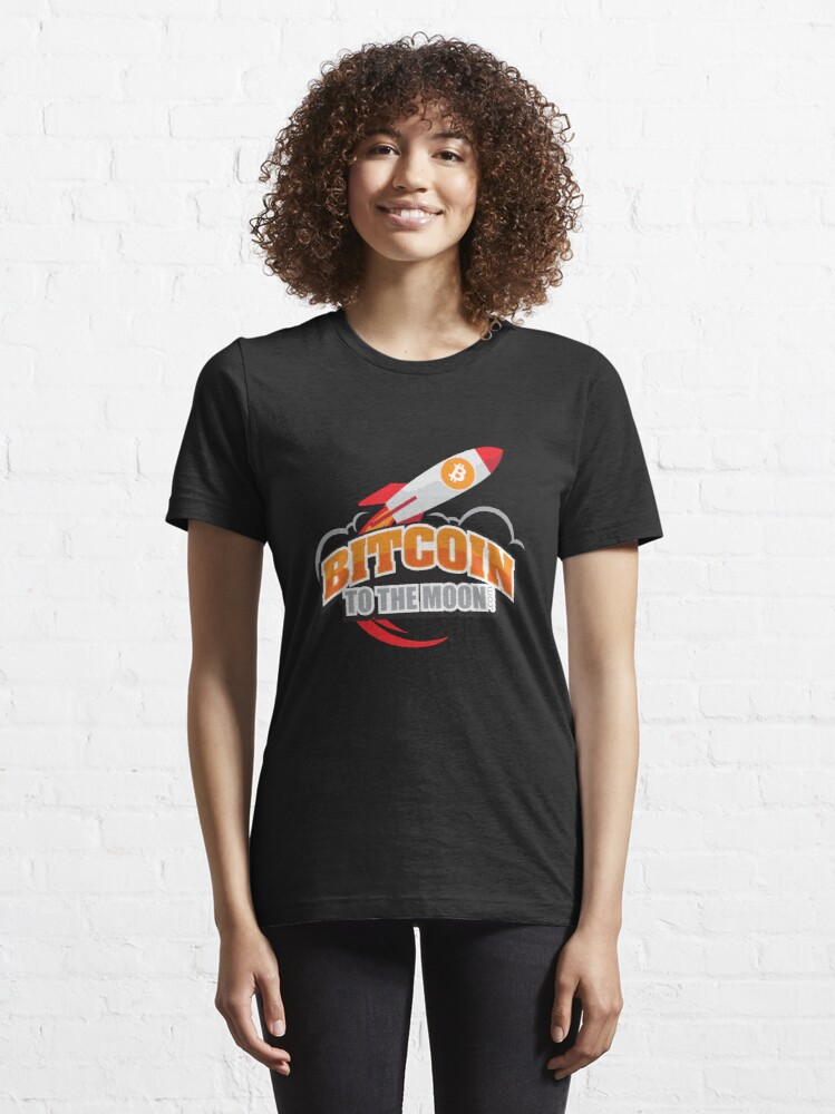 Alternate view of Bitcoin to the Moon Essential T-Shirt
