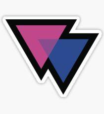 Bisexual Triangles Symbol Sticker