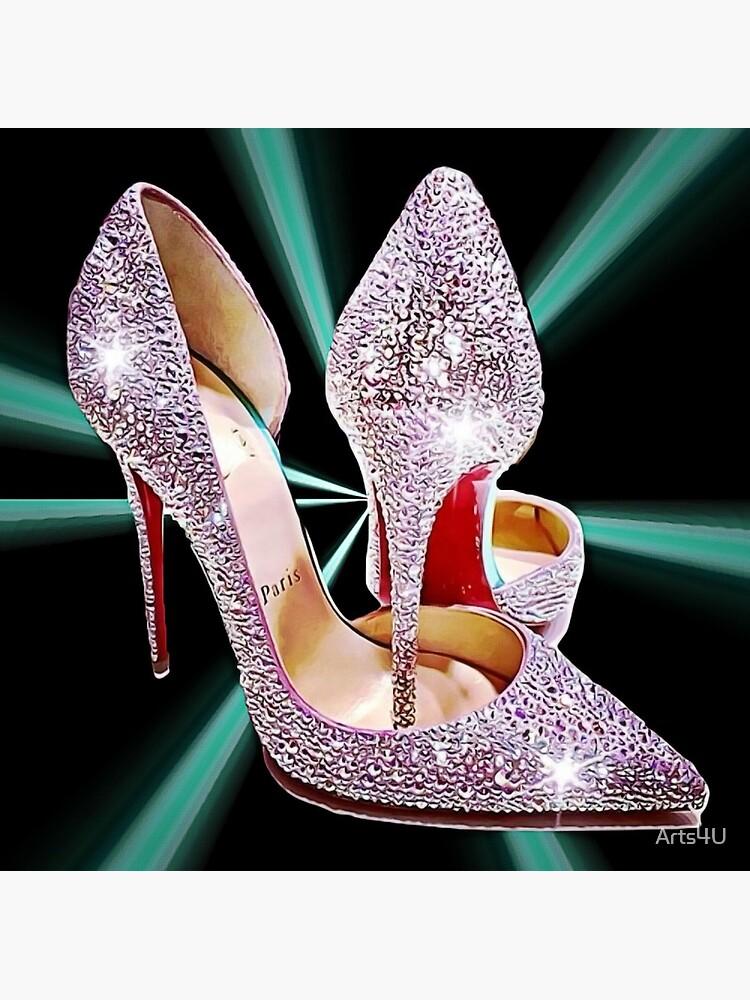 Sparkle Glitter Red Bottom Heels