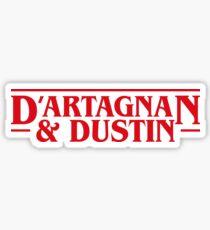 Dustin and D'artagnan Stranger Things Inspired Sticker