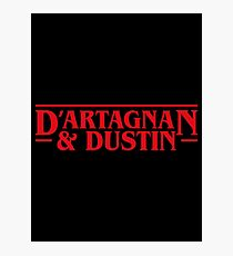 Dustin and D'artagnan Stranger Things Inspired Photographic Print