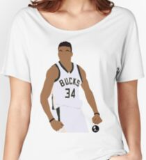 Giannis Antetokounmpo 'The Greek Freak' Minimalist Art (Phone Cases, T-shirts, stickers and more) Women's Relaxed Fit T-Shirt